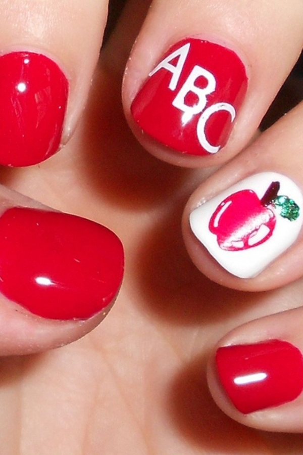 Back To School Tutorial Pencil Nail Art Youtube 10 Back To School
