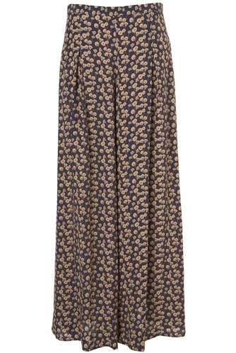 Topshop Blue Tulip Print Wide Leg Trousers