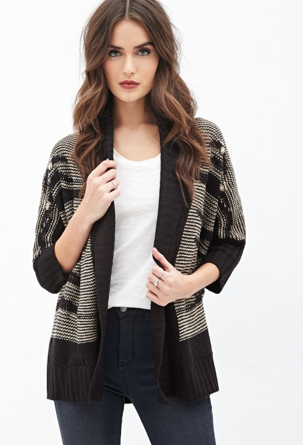 Oversized Textured Knit Cardigan