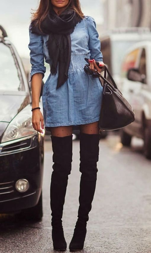 Thigh High - Get Your Boots Street Style Ready for Fall ... → 🎒…