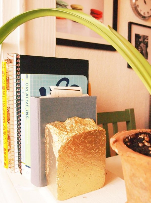 Gold Brick Bookend