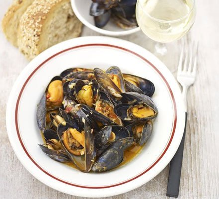 Mussels with Red Pesto