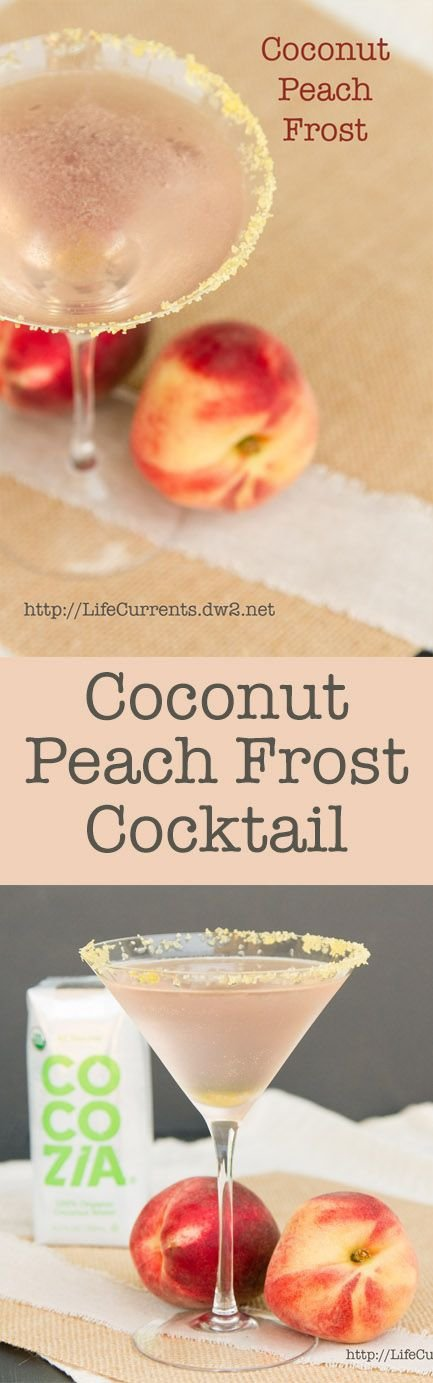 Coconut Peach Frost Cocktail