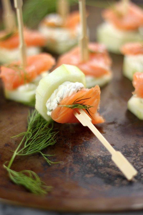 Melon and smoked salmon
