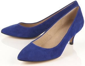 Topshop Janie Blue Suede Point Court Shoes