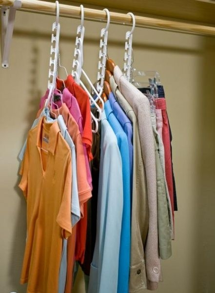 Use Multiple Hangers for Your Clothes (widely Available)