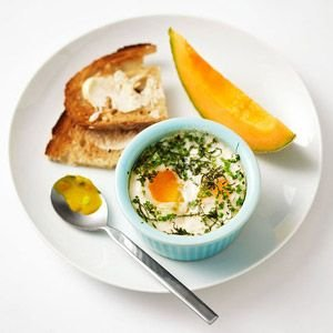 12. Baked Eggs with Herbs - 31 Light and Healthy Breakfasts under 300 ...