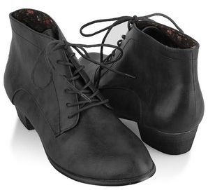 Pointed Leatherette Ankle Boots