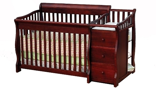 Sorelle Princeton 4-in-1 Convertible Crib & Changer - Cherry