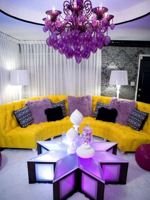 Purple and Yellow - 7 Surprising Paint Color Combinations ...