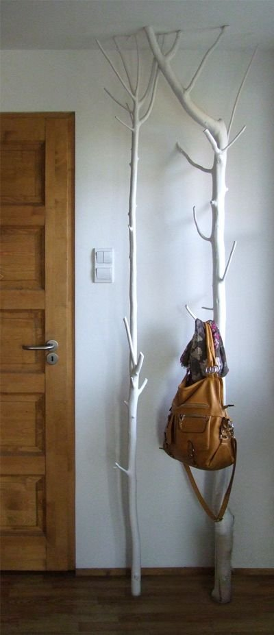 Turn a Branch into a Coat Rack
