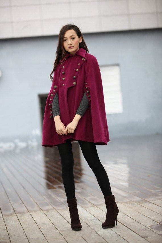 Military Cape Coat - 7 Street Style Ways to Wear a Cape ... Olivia Wilde Books