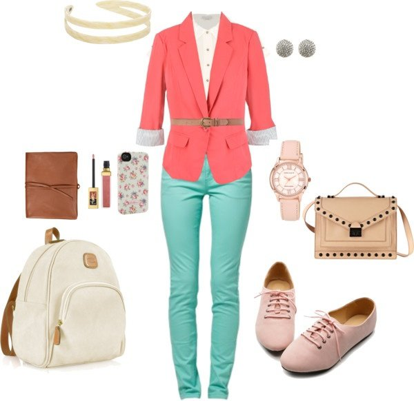 Colored Pants with a Colored Blazer