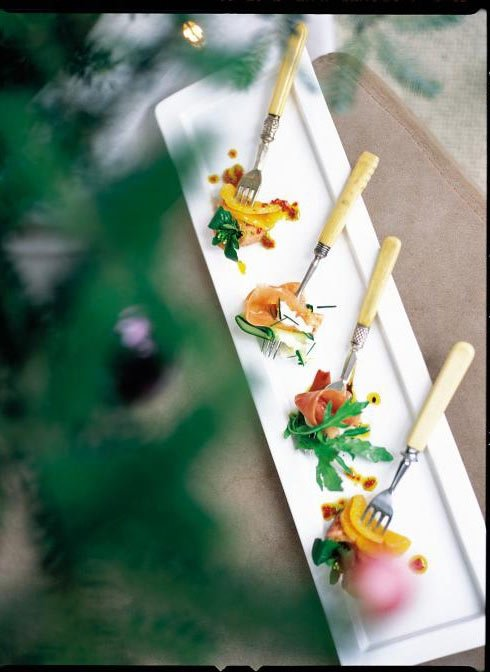 7 tasty but different starters for your christmas meal for Canape forks