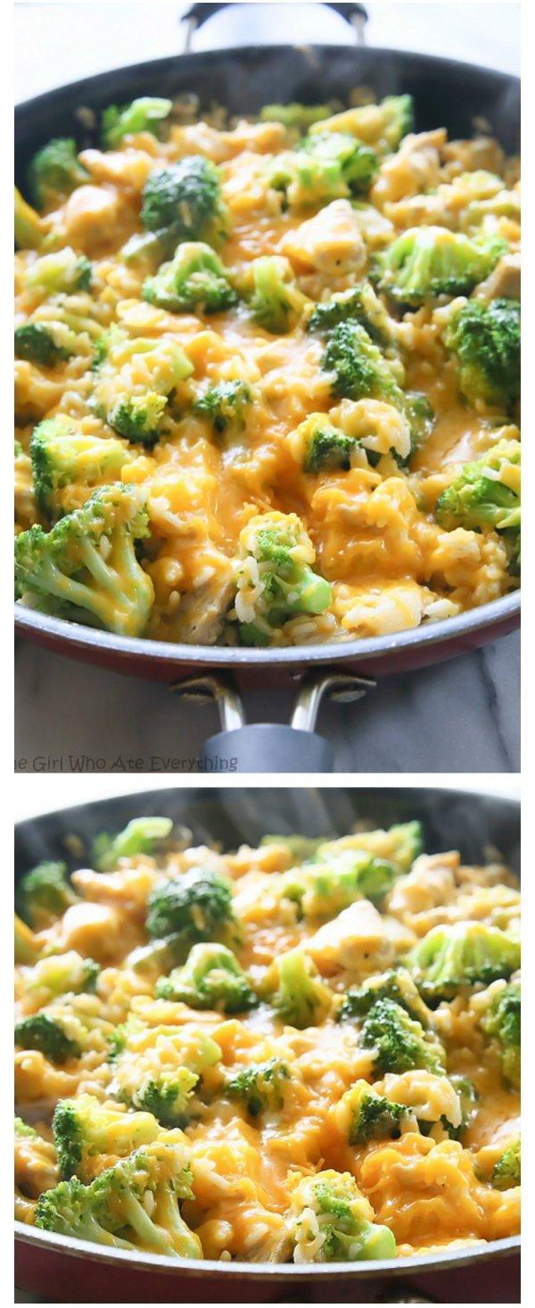One Pan Cheesy Chicken, Broccoli e riso