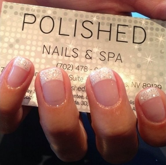 More glitter tips 62 fabulous french tip designs more glitter tips via nails prinsesfo Images