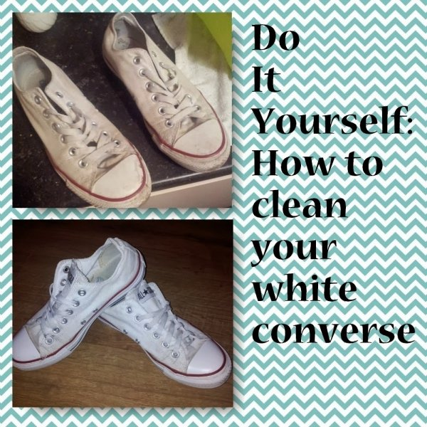 How to Clean Your White Converse Shoes