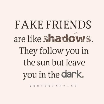 it is true that with friends