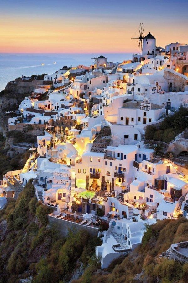 Thíra,town,coast,sea,cityscape,