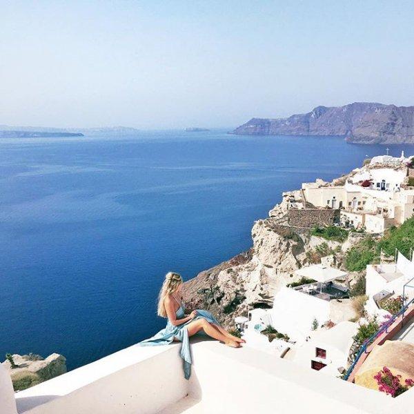 Santorini, Oia, vacation, sea, coast,