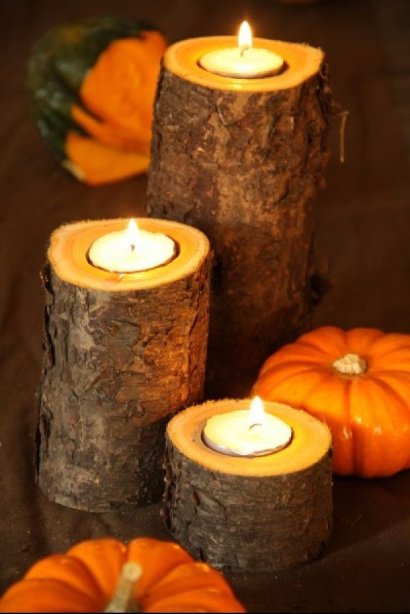 Get Woodworking and Make Some Branch Candles