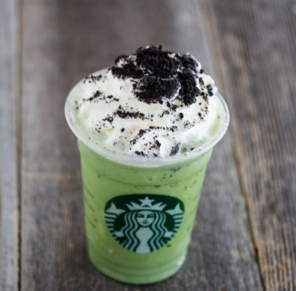 Mint Chocolate Chip Frapp