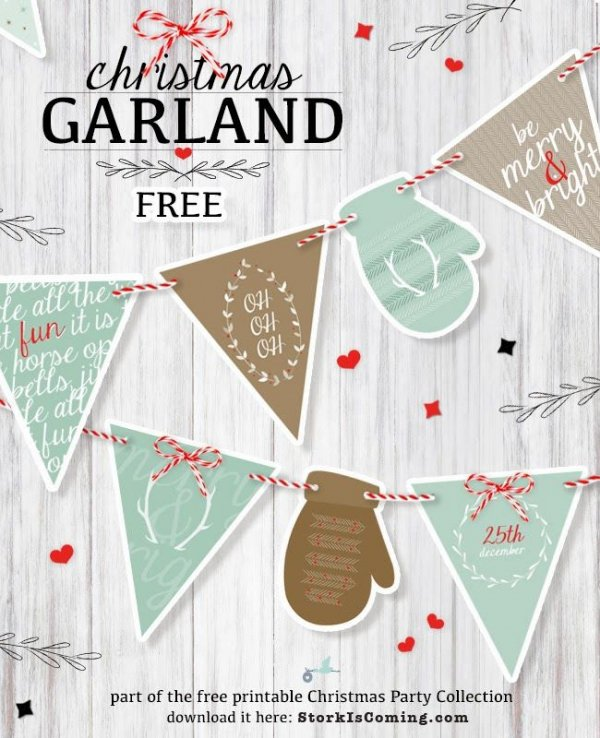 Printable CHRISTMAS GARLAND