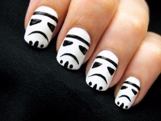 1. Storm Troopers - Awaken The Force With Star Wars Nail Art Nails