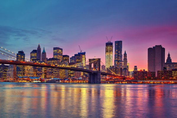 Brooklyn Bridge, New York City, skyline, cityscape, metropolitan area,