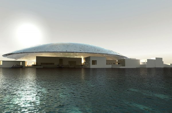 The Louvre Museum in Abu Dhabi, UAE
