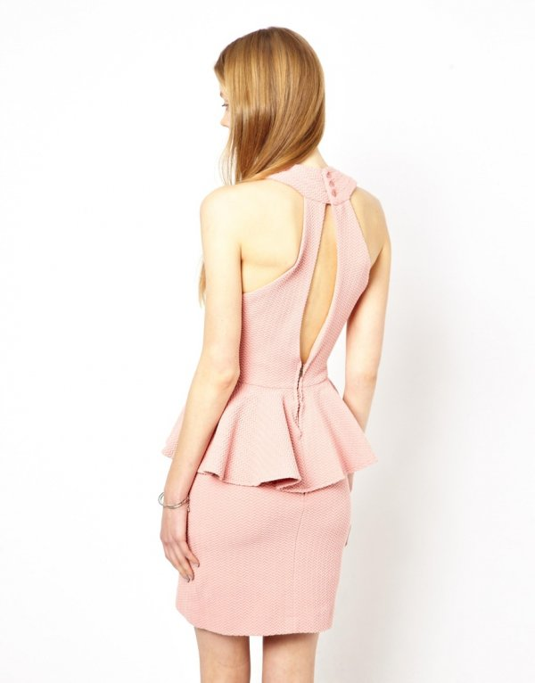 Asos Ganni Peplum Dress