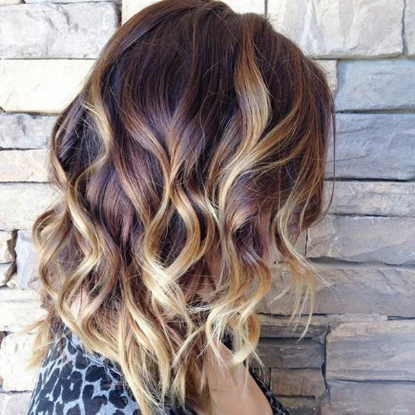 A little wave the hottest summer hairstyles for medium length - Balayage oeil de tigre ...