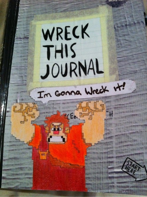 Wreck This Journal Book Cover Ideas ~ Wreck this journal ideas for diy journals diaries