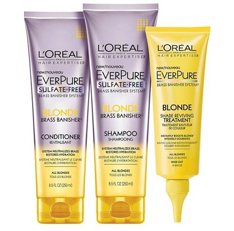 L'Oreal Everpure Brass Banisher Shampoo and Conditioner for Blonde Hair
