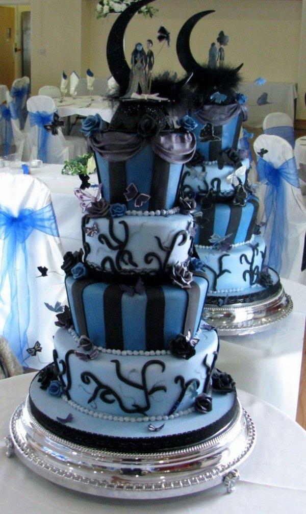 blue,wedding cake,cake,cake decorating,food,