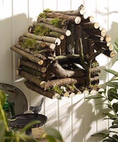 birdhouse made from branches awesome diy projects using. Black Bedroom Furniture Sets. Home Design Ideas