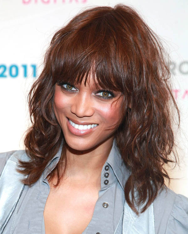 Tyra Banks' Tousled Curls