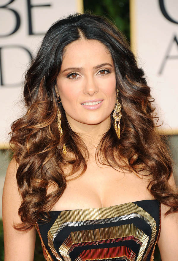 Salma Hayek's Ombre Waves