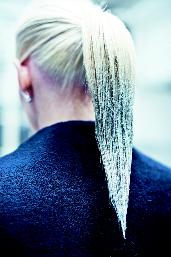 glitter dipped hair at markus lupfer   10 cool fall
