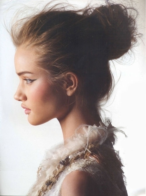 The Messy Bun - 7 Ways to Disguise a Bad Hair Day ... → 💇 Hair