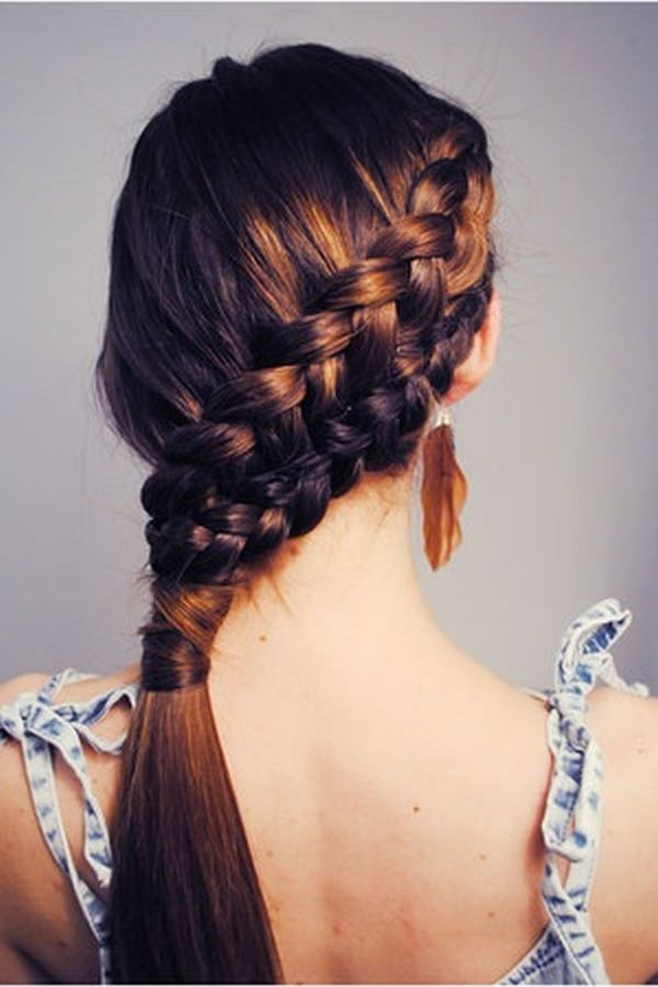 katy perry hairstyle : Katniss Slanted Braid - 7 Great Hairstyles for Riding a Bike ...