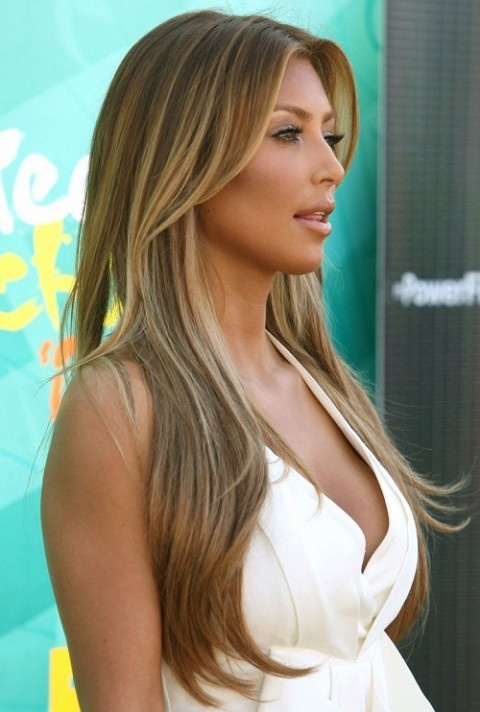 These highlights are a nice golden blonde which offers a fresher look