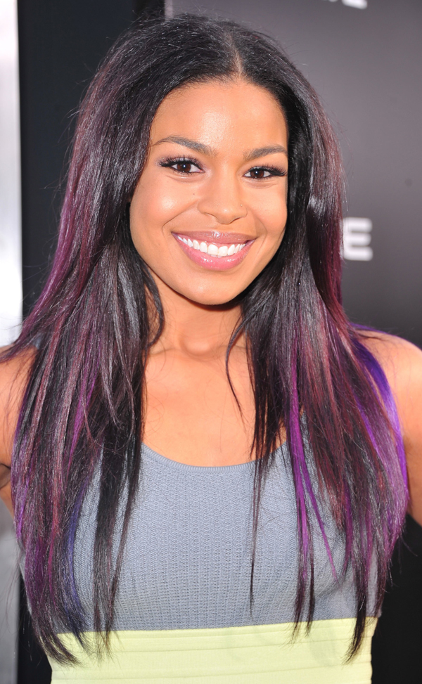 Blonde Hair With Purple Peekaboo Highlights Pop to your hair or outfit