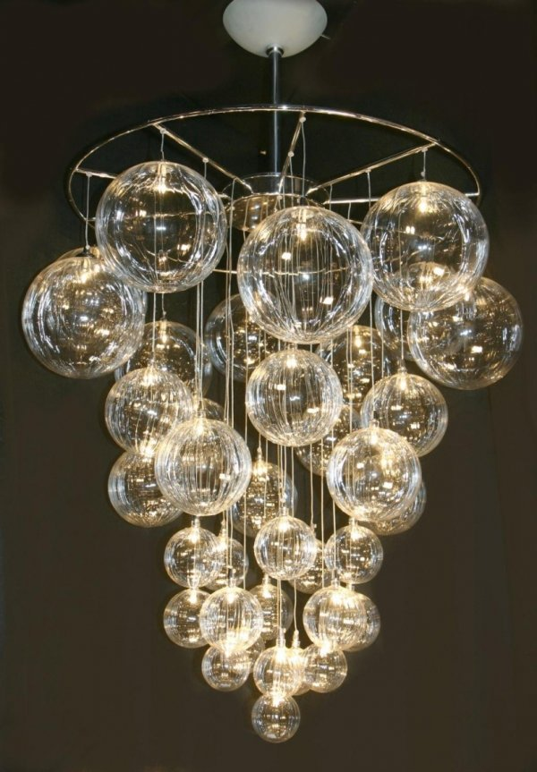 DIY Bubble Chandelier - 34 DIY Chandeliers to Light up Your Life…