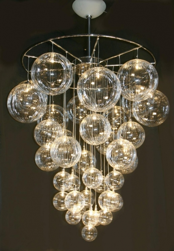 22 DIY Bubble Chandelier 34 DIY Chandeliers to Light up