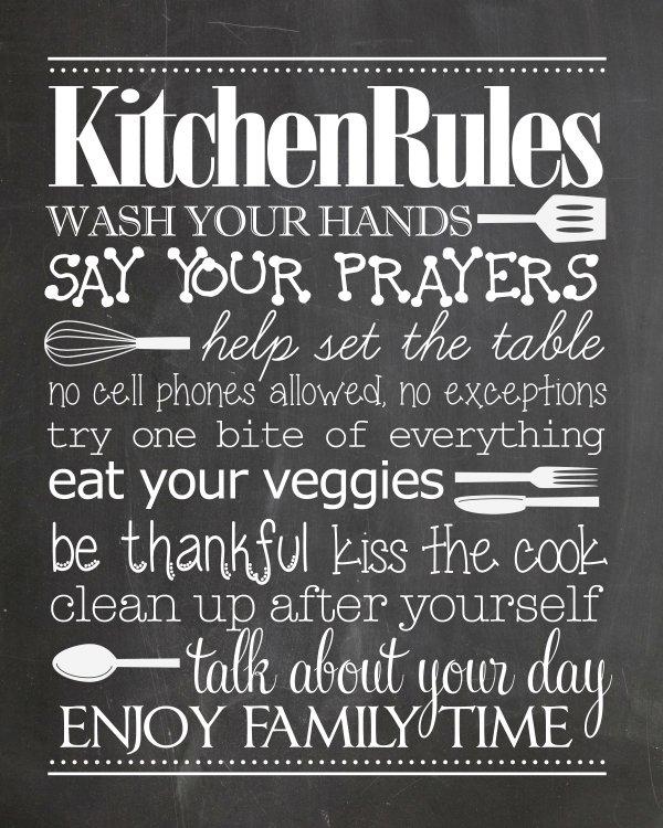 9 whimsical Küche Tafel Ausdrucke zum kostenlosen Download ...