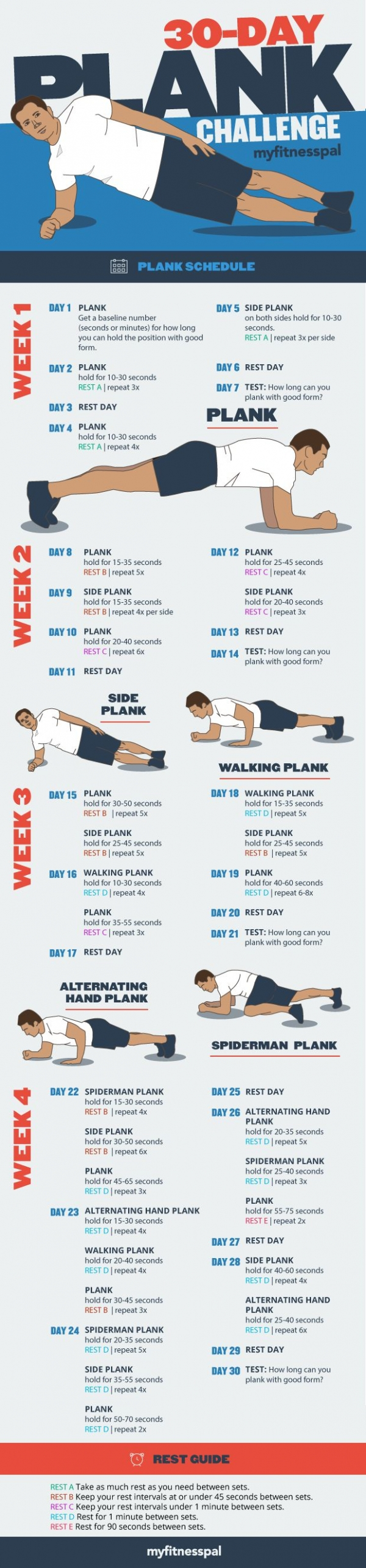 30-Day Plank Challenge