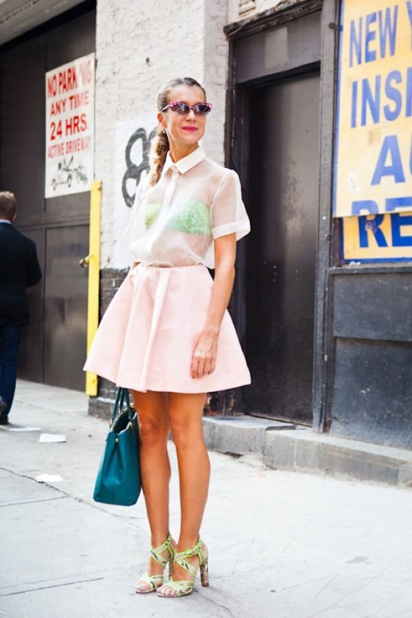 Under Sheer Tops - 7 Street Style Ways to Wear Bandeaus This…