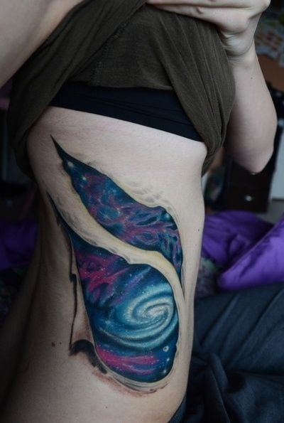 11. Blue Galaxy Tattoo with Ripped Effect - You Will Not ...