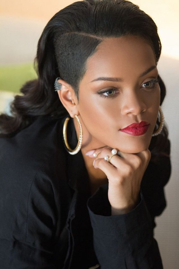 Shaved Side - Let's Get All Kinds of Inspo from Rihanna's ...